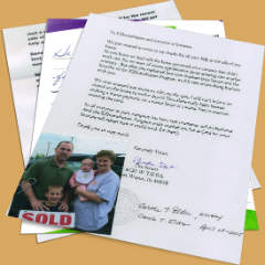 Fort Wayne House Seller Reviews and Letters of Thanks