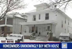 Fort WayneIndiana map to meth labs drug house busts increase